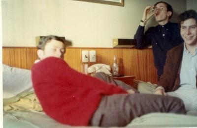 Zacarías Korn, Christian Cood y Marcos Zylberberg, viaje de estudios 1966 - small