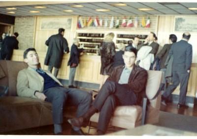 José Claudio Bogolasky y Edgar Bogolasky, Hotel Columbia Palace, Montevideo, viaje de estudios 1966 - small